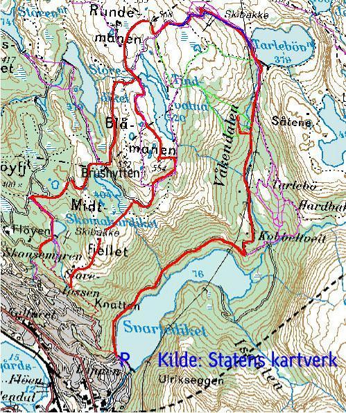 kart over vidden bergen En go ' tur i Bergen! | Stier og turer | [terrengsykkel.no] Arena kart over vidden bergen