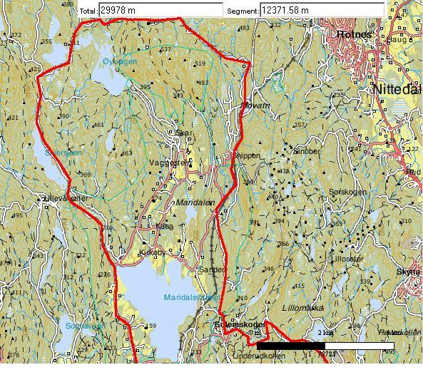 kart over maridalen Hvordan er forholdene innenfor Maridalen? kart over maridalen