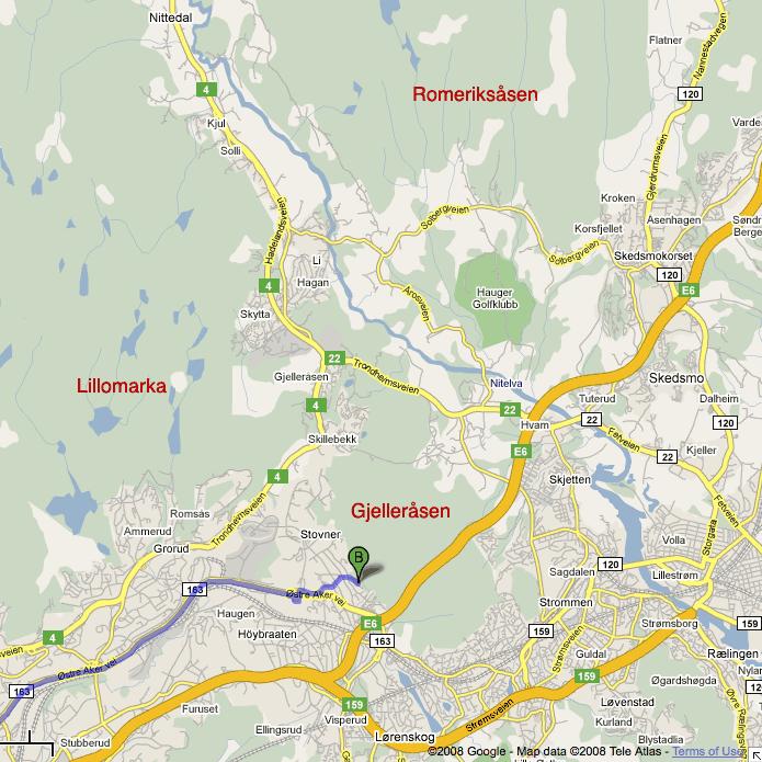 kart romeriksåsen Oslomarka Stiturne: Gjelleråsenmarka 15. Juni | | [terrengsykkel  kart romeriksåsen