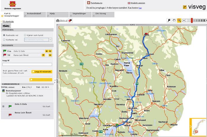 rena leir kart Raskeste vei fra Oslo til Rena i Morgen? rena leir kart